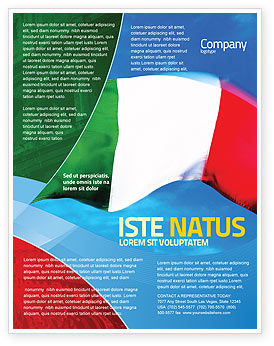 Flags/International: Italian Flag Flyer Template #01964