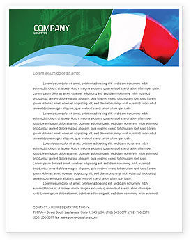 Flags/International: Italian Flag Letterhead Template #01964