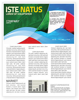 Flags/International: Italian Flag Newsletter Template #01964