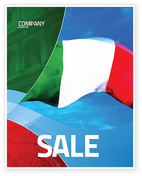 Flags/International: Italian Flag Sale Poster Template #01964