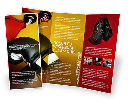 boxing training brochure template design and layout download now 01965. Black Bedroom Furniture Sets. Home Design Ideas