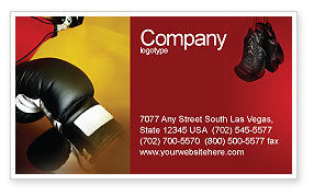 Sports: Boxing Training Business Card Template #01965