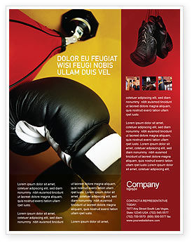 Boxing Training Flyer Template, 01965, Sports — PoweredTemplate.com