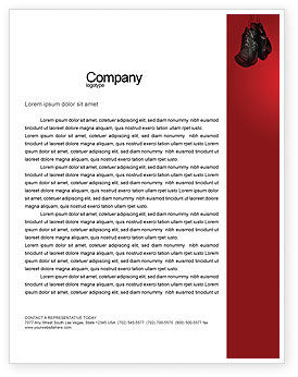Sports: Boxing Training Letterhead Template #01965