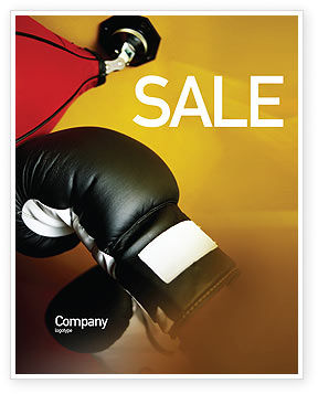 Boxing Training Sale Poster Template, 01965, Sports — PoweredTemplate.com