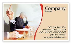 Business: Annual Board Meeting Business Card Template #01966