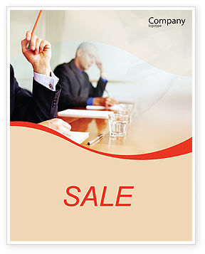 Annual Board Meeting Sale Poster Template, 01966, Business — PoweredTemplate.com