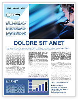 Driving Safety Newsletter Template, 01967, Consulting — PoweredTemplate.com