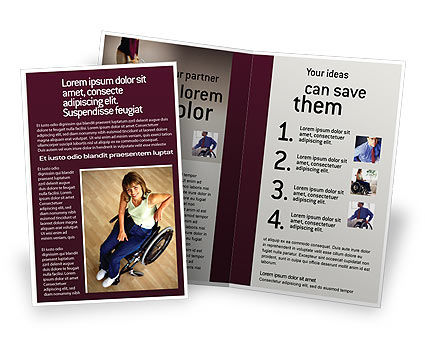 Medical: Disability People Brochure Template #01968