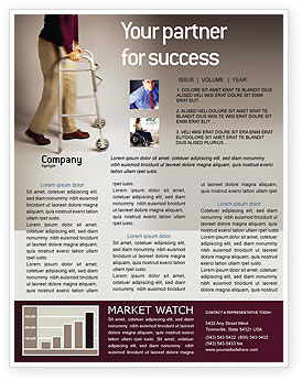 Disability People Newsletter Template, 01968, Medical — PoweredTemplate.com