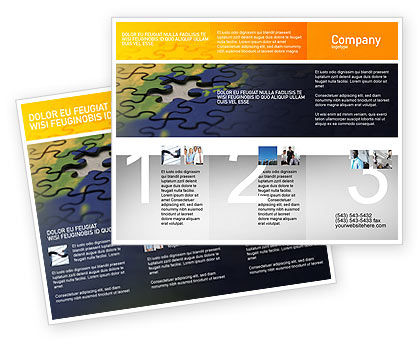 Puzzle of World Brochure Template, 01971, Business Concepts — PoweredTemplate.com