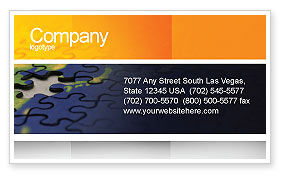 Business Concepts: Puzzle of World Business Card Template #01971