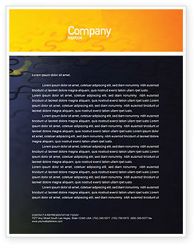 Business Concepts: Puzzle of World Letterhead Template #01971