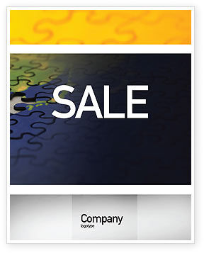 Business Concepts: Puzzle of World Sale Poster Template #01971