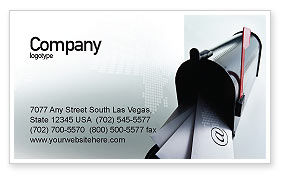 Mail Box Business Card Template, 01972, Telecommunication — PoweredTemplate.com