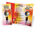 Education & Training: Earth In Young Pupil Hands Brochure Template #01975
