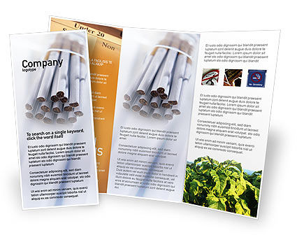 Cigarettes Brochure Template