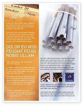Cigarettes Flyer Template, 01977, Medical — PoweredTemplate.com