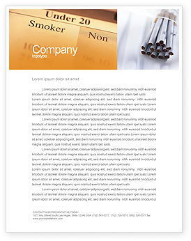 Cigarettes Letterhead Template, 01977, Medical — PoweredTemplate.com
