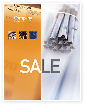 Medical: Cigarettes Sale Poster Template #01977