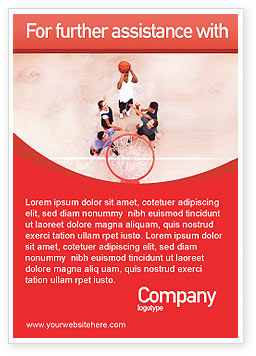 Sports: Streetball Advertentie Template #01979