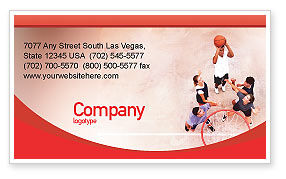 Sports: Streetball Business Card Template #01979
