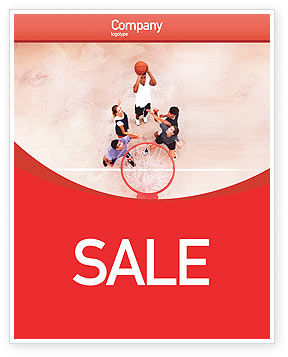 Streetball Sale Poster Template, 01979, Sports — PoweredTemplate.com