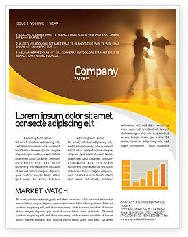 Sports: Boxing Ring Newsletter Template #01981