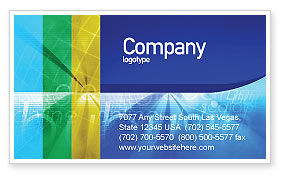E-business Business Card Template, 01983, Business Concepts — PoweredTemplate.com