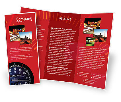 Speedometer Brochure Template, 01985, Cars/Transportation — PoweredTemplate.com