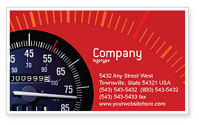 Cars/Transportation: Speedometer Business Card Template #01985