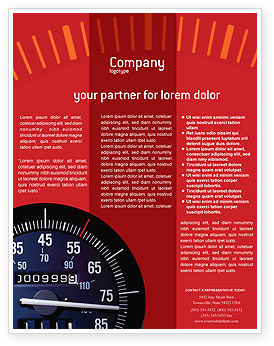 Cars/Transportation: Speedometer Flyer Template #01985