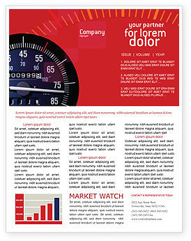 Cars/Transportation: Speedometer Newsletter Template #01985