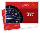 Cars/Transportation: Speedometer Postcard Template #01985