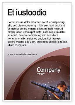 Astronomy Ad Template, 01987, Education & Training — PoweredTemplate.com
