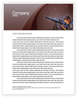 Education & Training: Astronomy Letterhead Template #01987