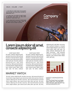 Astronomy Newsletter Template, 01987, Education & Training — PoweredTemplate.com