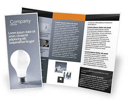 Idea Brochure Template, 01989, Business Concepts — PoweredTemplate.com