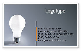 Idea Business Card Template, 01989, Business Concepts — PoweredTemplate.com