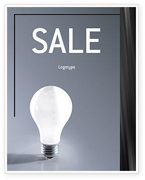 Idea Sale Poster Template, 01989, Business Concepts — PoweredTemplate.com