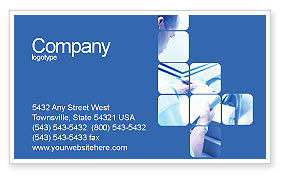 Business: Business Analyst At Work Business Card Template #01990