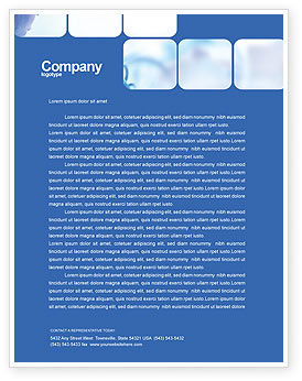 Business: Business Analyst At Work Letterhead Template #01990