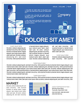 Business: Business Analyst At Work Newsletter Template #01990
