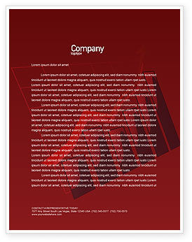 Financial/Accounting: Red Histogram Letterhead Template #01994
