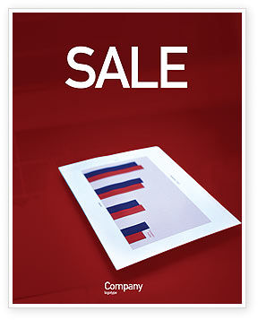 Financial/Accounting: Red Histogram Sale Poster Template #01994