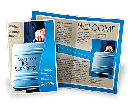 Suitcase  Brochure Template, 01996, Business Concepts — PoweredTemplate.com