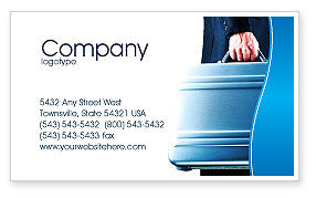 Business Concepts: Suitcase  Business Card Template #01996