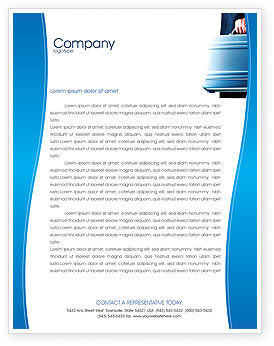 Suitcase  Letterhead Template, 01996, Business Concepts — PoweredTemplate.com