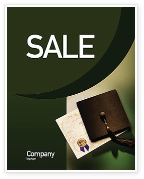 Education & Training: Diploma Sale Poster Template #01997