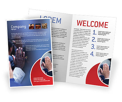 Voting Brochure Template, 02001, Legal — PoweredTemplate.com